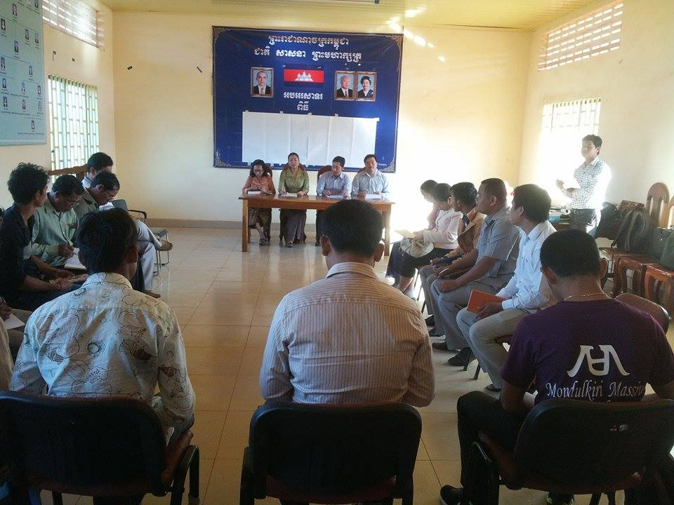 Transmit Training for CBO Leaders and Councils in Krung Senmorom, Mondulkri Province
